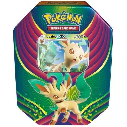 Pokemon Eevee Evolutions Celebration Tins - Leafeon GX